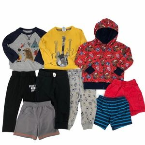 Little Boy 2T Fall Clothing Lot 9 Items Total